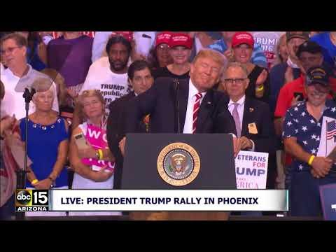 FULL RAW VIDEO: President Trump speaks at Phoenix Rally