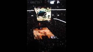 Cleveland Cavaliers 2014-15 Starting Lineup introductions 3-7-15