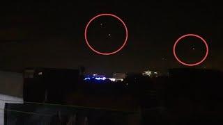 صورت شئ غريب  في سماء منزلي على الساعة  4 صباحا مع صوت مخيف ! كائنات فضائية  ؟