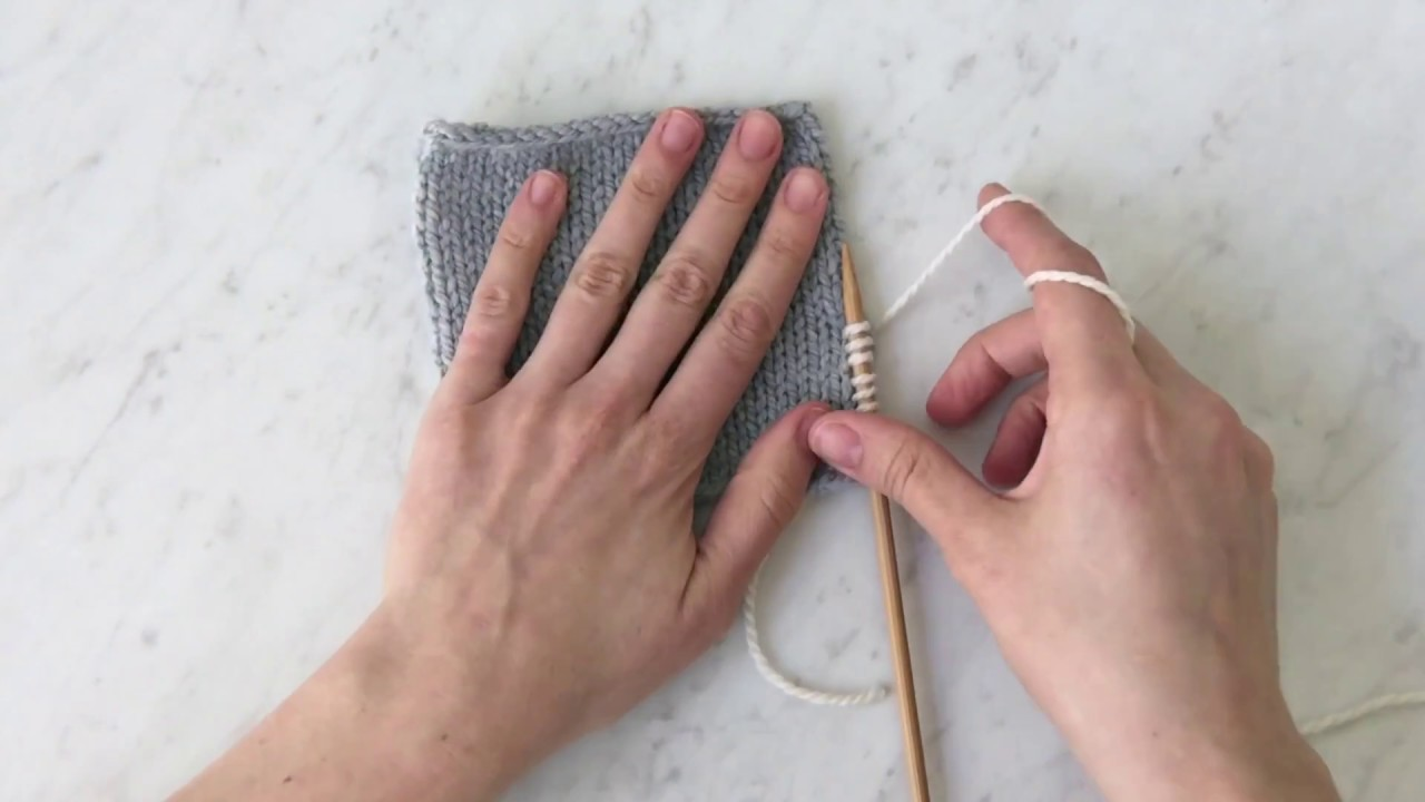 Picking up Stitches along a Vertical Edge Tutorial | Purl Soho