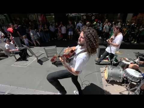 Melbourne Buskers MALCURA Perform Ini Mini - Live on Bourke Street Mall