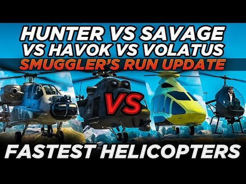 FH-1 Hunter vs Savage vs Havok vs Volatus (GTA Online Smuggler's Run Update)
