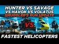 FH-1 Hunter vs Savage vs Havok vs Volatus (GTA Online Smuggler's Run Update)