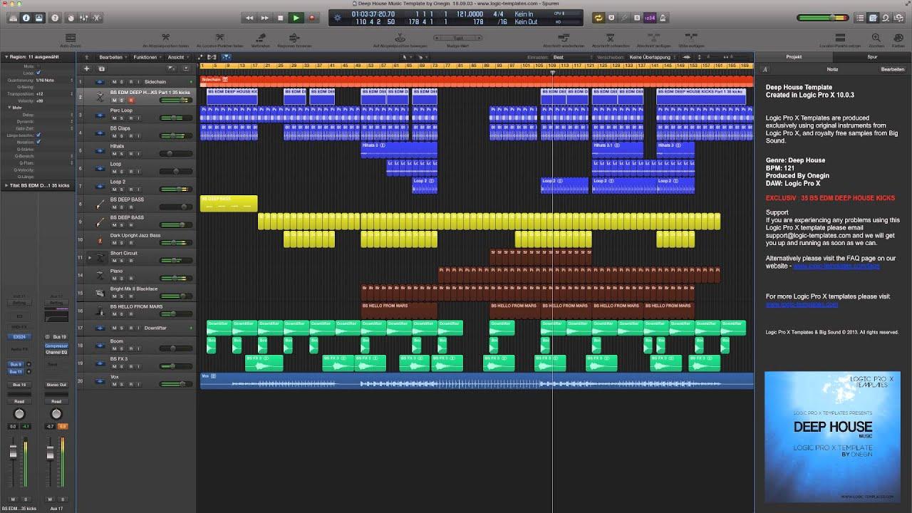Logic pro x template deep house music youtube for Deep house music songs