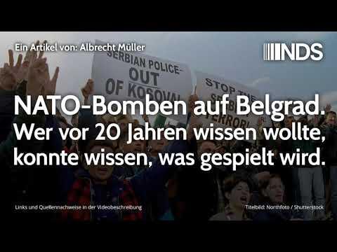 NATO-Bomben auf Belgrad. Wer vor 20 Jahren wissen wollte, konnte wissen, was gespielt wird.