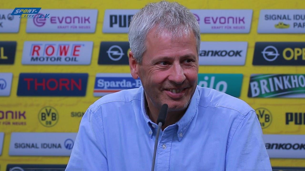 BVB-PK mit Favre und Zorc vor dem Wolfsburg-Spiel