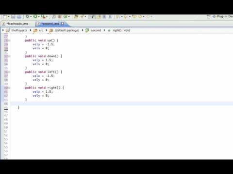 Java GUI Lesson 12 | Moving Graphics with arrow keys