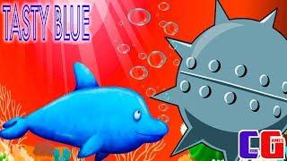 Tasty Blue #7 СЪЕЛ МОРСКУЮ МИНУ! Мультяшная игра для детей про Обжору Дельфина СЪЕСТЬ ОКЕАН