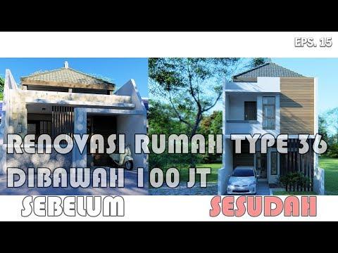 Renovasi Rumah Minimalis 2 Lantai Type 36  renovasi rumah type 36 dilahan 6 x 10 dengan biaya