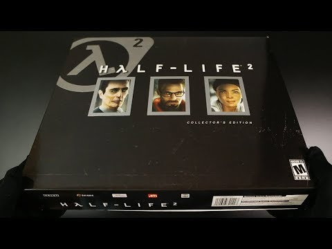 Unboxing Half-Life 2 Collector's Edition - PC + Prima Official Game Guide FPS Gameplay Released 2004