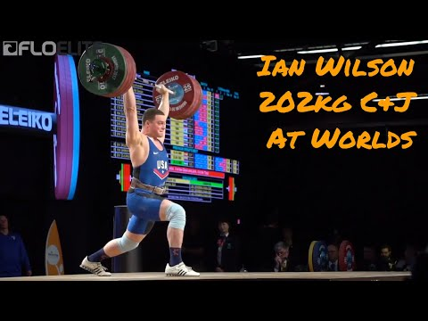 Ian Wilson (USA, 105) Clean & Jerks 202kg At 2017 IWF Worlds