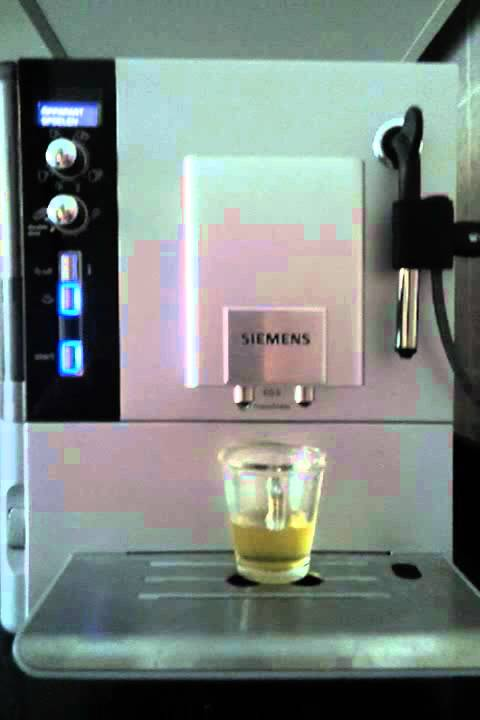 Siemens EQ 5 TE RW start up