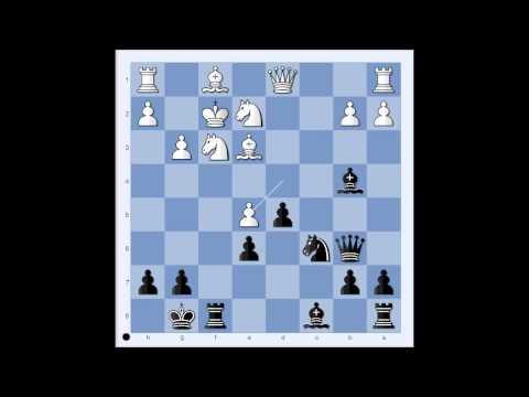 French Defense: Whitehead vs Maroczy London 1923