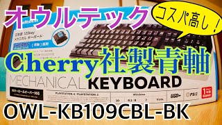 Cherry社製 青軸 メカニカルキーボード買ってみた【オウルテック】