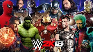 MARVEL INFINITY WAR Royal Rumble WWE 2K18 Gameplay