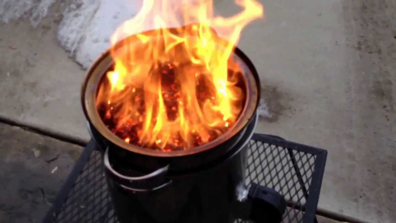 Video 2 Diy Walmart Gasifier Forge 24 With Wood Pellets