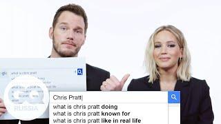 Крис Пратт и Дженнифер Лоуренс гуглят сами себя