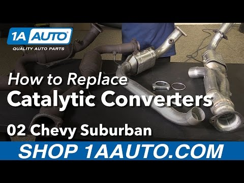 How to Replace Catalytic Converters 00-06 Chevy Suburban 1500