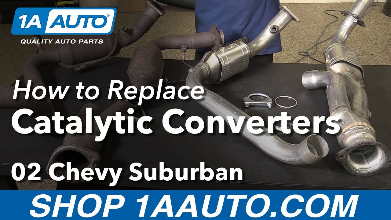 hight resolution of how to replace catalytic converters 00 06 chevy suburban