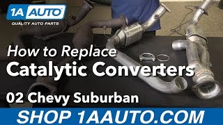 How to Install Replace Catalytic Converters 2002 Chevy Suburban