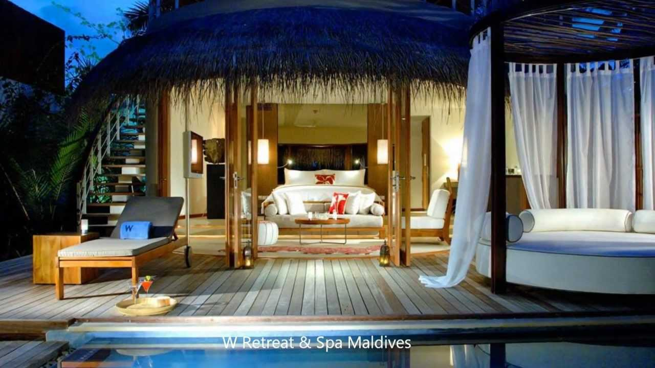 Top 10 resorts in maldives youtube for W hotel bedroom designs