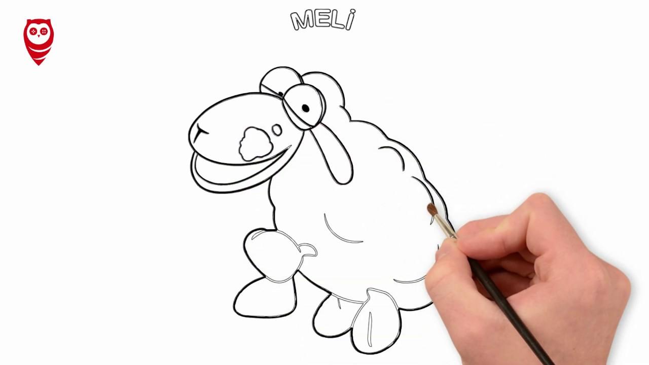 Hapşuu Meli Eğlenceli çizgi Film Boyama Ve çizim Sayfası çocuklar