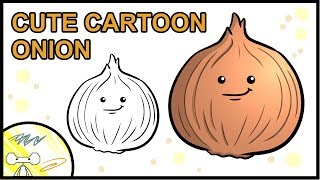 How to Draw a Cute Cartoon Onion