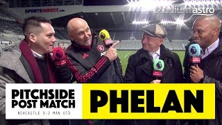 PITCHSIDE: Mike Phelan post match reaction | Newcastle 0-2 Man Utd | Astro SuperSport