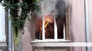 Pożar kamienicy na ulicy Hallera