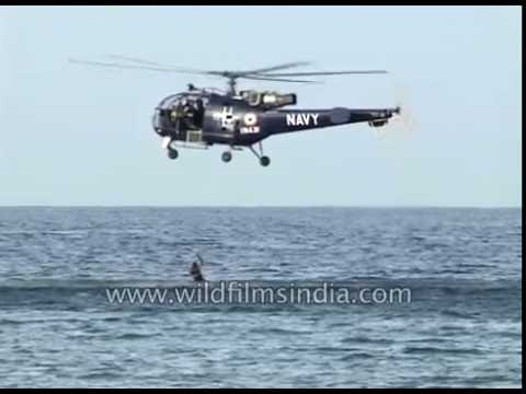 Indian Navy helicopter does rescue flight off Andaman Islands in Andaman Sea