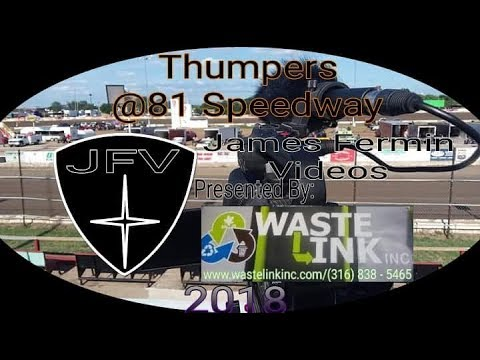 Thumpers #52, Heat 2, 81 Speedway, 08/11/18