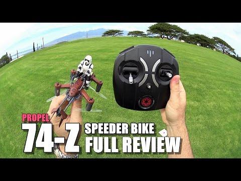 PROPEL STAR WARS 74-Z SPEEDER BIKE Review - [Unbox / Inspection / Setup / Flight Test / Pros & Cons]