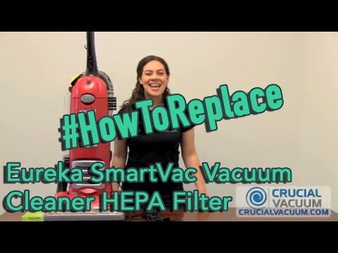 Eureka SmartVac Vacuum Cleaner HEPA Filter Change for Part HF2 HF-2 61111 61111A 61111B