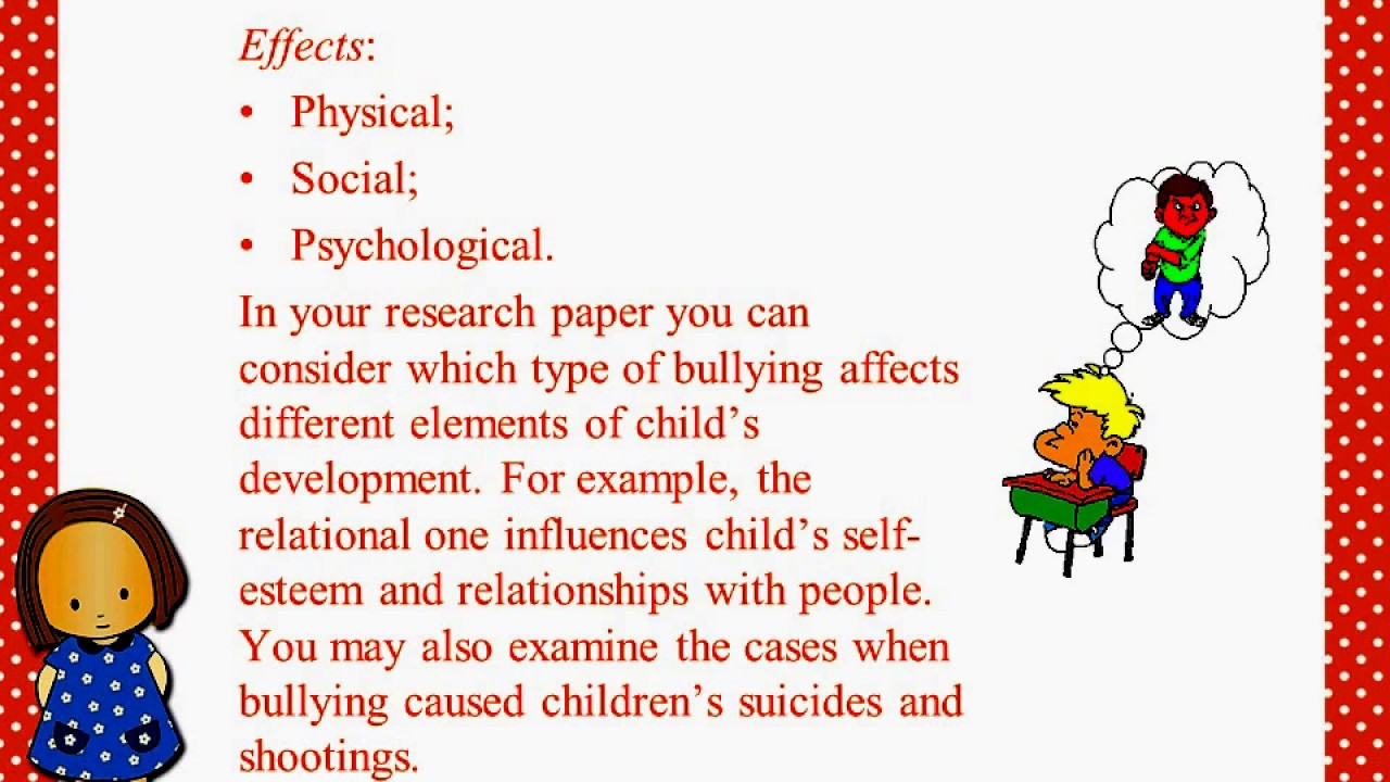 Bullying Research Paper YouTube