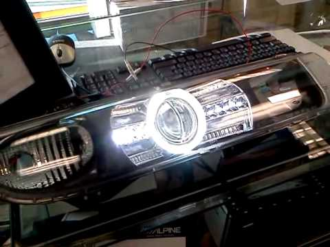 Saturn Project Halo Headlights Hid Xenon Led Drl Youtube