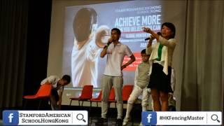 stamford american school x HK Fencing Master Mega Fencing workshop 27 July 2017