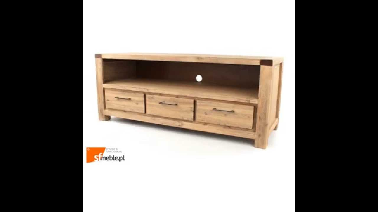 wolf m bel coast szafka rtv drewniana akacja szczotkowana jasna youtube. Black Bedroom Furniture Sets. Home Design Ideas
