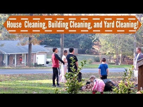 House Cleaning, Building Cleaning and Yard Cleaning {11/5/16 Vlog}