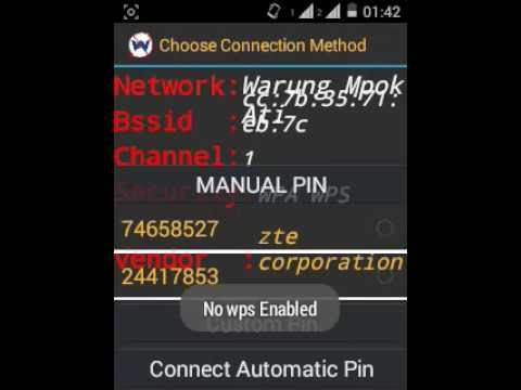 Tutorial How to find a Wifi password locked - Wps WPA Tester for Android  (WORKING 50% Chance)
