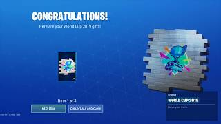 "Fortnite: Gifts/ nBKg unlocks the *FREE* ""World Cup 2019"" items 