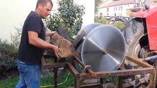 EXTREME Automatic Firewood Processing Machine, Homemade Modern Wood Cutting Chainsaw Machines MP3