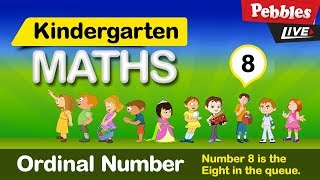 Kindergarten Maths   Ordinal Number   Preschool And Kindergarten Learning  Videos