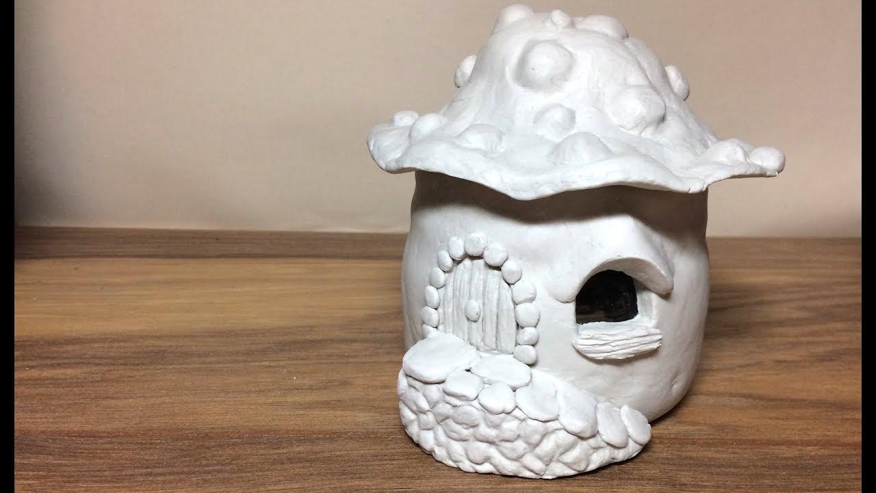 Diy Das Paper Clay Brick Fairy House Lantern Night Light House Craft