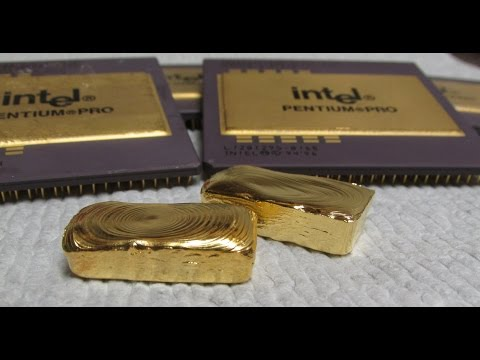 Gold Recovery With Bleach Computer Scrap Pentium Pro CPU