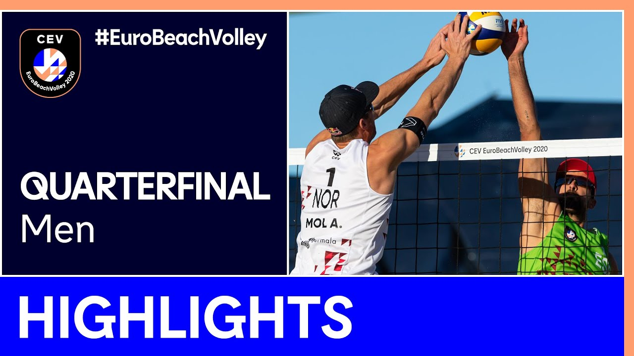 Mol A./Sørum, C. vs Herrera/Gavira Quarter-Finals Highlights - EuroBeachVolley 2020 Men