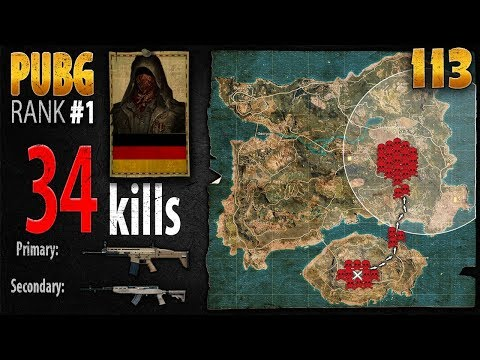 PUBG Rank 1 - MarcoOPz 34 kills DUO - PLAYERUNKNOWN\'S BATTLEGROUNDS #113