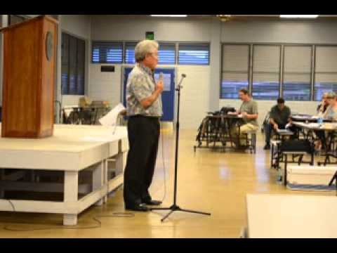 Public Land Development Corporation - testimony in Hilo 8/20/12 part 1/10