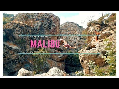 Cliff Jumping in Malibu
