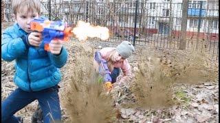 Войнушки. НЕРФ БИТВА - Нерф война: Слежение - Nerf War: Tracking на русском + English Subtitles