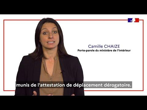 #Covid19 | Attestation de déplacement dérogatoire : Quels déplacements sont autorisés ?